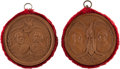 Political:Tokens & Medals, Cleveland & Hendricks and Blaine & Logan: Pair of Jugate Wooden Plaques. ... (Total: 2 Items)