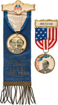 Political:Ribbons & Badges, William McKinley: Pair of Ribbon Badges. ... (Total: 2 Items)