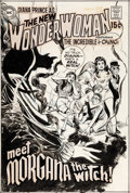 Original Comic Art:Covers, Mike Sekowsky and Dick Giordano Wonder Woman #186 CoverOriginal Art (DC, 1970)....