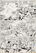 Original Comic Art:Panel Pages, Jack Kirby and Joe Sinnott Fantastic Four Annual #4 Story Page 18 Original Art (Marvel, 1966)....