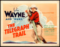 """Movie Posters:Western, The Telegraph Trail (Warner Brothers, 1933). Title Lobby Card (11"""" X 14"""").. ..."""