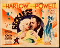 """Movie Posters:Drama, Reckless (MGM, 1935). Title Lobby Card (11"""" X 14"""").. ..."""