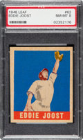 Baseball Cards:Singles (1940-1949), 1948 Leaf Eddie Joost #62 PSA NM-MT 8 - None Higher! ...