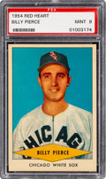 Baseball Cards:Singles (1950-1959), 1954 Red Heart Billy Pierce PSA Mint 9 - None Higher. ...