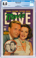 Golden Age (1938-1955):Romance, Movie Love #9 (Eastern Color, 1951) CGC VF 8.0 Off-white pages....