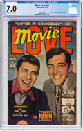Golden Age (1938-1955):Romance, Movie Love #12 (Famous Funnies Publications, 1951) CGC FN/VF 7.0Cream to off-white pages....
