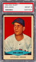 Baseball Cards:Singles (1950-1959), 1954 Red Heart Bob Lemon PSA NM-MT 8....