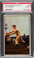 Baseball Cards:Singles (1950-1959), 1953 Bowman Color Gil Hodges #92 PSA Mint 9 - Only One Higher....