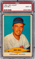 Baseball Cards:Singles (1950-1959), 1954 Red Heart Gus Bell PSA Mint 9 - None Higher. ...