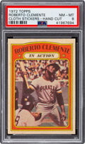 """Baseball Cards:Singles (1970-Now), 1972 Topps Test """"Cloth Stickers"""" Roberto Clemente PSA NM-MT 8...."""