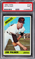 Baseball Cards:Singles (1960-1969), 1966 Topps Jim Palmer #126 PSA Mint 9 - None Higher....