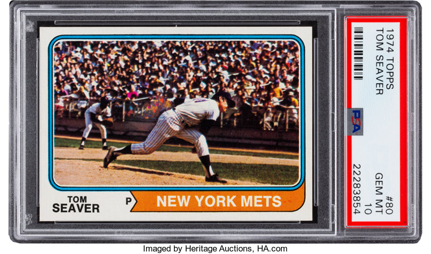 1974 Topps Tom Seaver 80 Psa Gem Mint 10 Baseball Cards