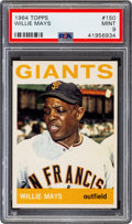 Baseball Cards:Singles (1960-1969), 1964 Topps Willie Mays #150 PSA Mint 9 - Only Two Higher....