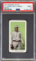 """Baseball Cards:Singles (Pre-1930), 1910 E98 """"Set of 30"""" Cy Young (Green) PSA Mint 9 - Pop One, None Higher! ..."""