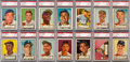 Baseball Cards:Lots, 1952 Topps PSA-Graded High-Numbers (17). ...