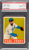 Baseball Cards:Singles (1940-1949), 1948 Leaf Paul Trout #10 PSA NM-MT 8 - None Higher! ...