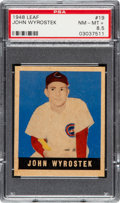 Baseball Cards:Singles (1940-1949), 1948 Leaf John Wyrostek #19 PSA NM-MT+ 8.5 - Pop One, None Higher!...