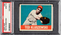Baseball Cards:Singles (1940-1949), 1948 Leaf Ted Kluszewski #38 PSA Mint 9 - Pop Two, None Higher! ...