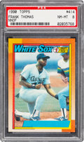 Baseball Cards:Singles (1970-Now), 1990 Topps Frank Thomas (No Name On Front) #414 PSA NM-MT 8....