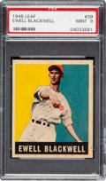 Baseball Cards:Singles (1940-1949), 1948 Leaf Ewell Blackwell #39 PSA Mint 9 - Pop One, None Higher! ...