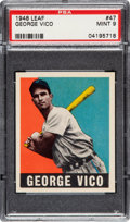 Baseball Cards:Singles (1940-1949), 1948 Leaf George Vico #47 PSA Mint 9 - Pop One, None Higher! ...
