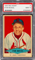 Baseball Cards:Singles (1950-1959), 1954 Red Heart Stan Musial PSA Mint 9 - None Higher. ...