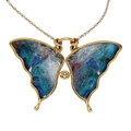 Estate Jewelry:Necklaces, Boulder Opal, Gold Necklace. ...