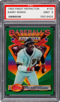 Baseball Cards:Singles (1970-Now), 1993 Topps Finest Refractor Barry Bonds #103 PSA Mint 9....
