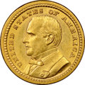 Commemorative Gold, 1903 G$1 Louisiana Purchase, McKinley Gold Dollar MS63 NGC. Asharp, satiny Select Mint State example of the McKinley...