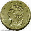 Classic Half Eagles: , 1834 $5 Crosslet 4 MS62 NGC. Second Head, Breen-6503, McCloskey5-D, R.4. One of the unsung rarities among gold coins from ...