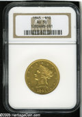 Liberty Eagles: , 1845 $10 AU50 NGC. Despite a higher mintage of 26,153 coins, the1845 is equally as rare as the 1844 (6,361 pieces produced...