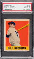 Baseball Cards:Singles (1940-1949), 1948 Leaf Bill Goodman #30 PSA NM-MT 8 - None Higher! ...