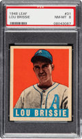 Baseball Cards:Singles (1940-1949), 1948 Leaf Lou Brissie #31 PSA NM-MT 8. ...