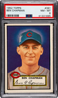 Baseball Cards:Singles (1950-1959), 1952 Topps Ben Chapman #391 PSA NM-MT 8 - Only Three Higher....