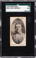 Baseball Cards:Singles (Pre-1930), Very Rare 1909 D380-1 Clement Bros. Bread Goat Anderson SGC 10 Poor 1....