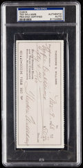 Autographs:Checks, 1968 Ted Williams Signed Check, PSA/DNA Authentic. ...