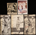 Autographs:Photos, Hank Greenberg Signed Image Lot of 5 with Feller and Herman. . ...(Total: 5 item)