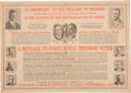 Political:Posters & Broadsides (1896-present), Hoover and Curtis: An Unusual 1928 Missouri Coattail Multigate Poster. ...