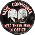 Political:Miscellaneous Political, Hoover & Curtis: Spectacular Jugate Tire Cover, the Mate to the FDR Version Also Offered in this Auction....