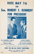 Political:Posters & Broadsides (1896-present), Robert Kennedy: Rare 1968 Campaign Poster with Civil Rights Association....