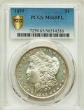 Morgan Dollars: , 1899 $1 MS65 Prooflike PCGS Secure. PCGS Population: (81/11 and 1/0+). NGC Census: (20/3 and 1/0+). CDN: $1,155 Whsle. Bid ...