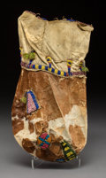 American Indian Art:Beadwork and Quillwork, A Sioux Beaded Pouch...