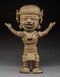 Pre-Columbian:Ceramics, A Large Veracruz Figure with Outstretched Arms...