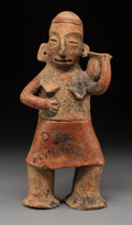 Pre-Columbian:Ceramics, A Large Colima Female Figure...
