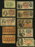 Fractional Currency:Group Lots, Ten Pieces of Fractional Currency Very Good or better.. ... (Total: 10 notes)