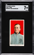 Baseball Cards:Singles (Pre-1930), 1909-11 T206 Sweet Caporal Ty Cobb (Red Portrait) SGC 7 NM. ...