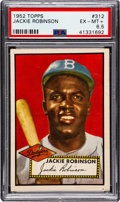Baseball Cards:Singles (1950-1959), 1952 Topps Jackie Robinson #312 PSA EX-MT+ 6.5....