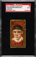 Baseball Cards:Autographs, Signed 1911 T205 Piedmont Rube Marquard SGC Authentic. ...