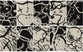 Prints & Multiples, KAWS (b. 1974). Man's Best Friend, complete set of ten, 2016. Screenprints in black and white on Saunders Waterford High...