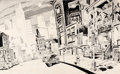 "Original Comic Art:Illustrations, Spain Rodriguez - ""Cool World"" Cityscape Illustration (1992)...."
